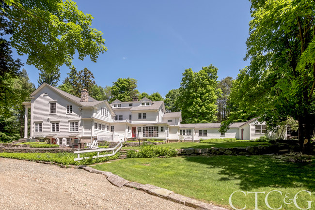 Designer Katie Brown restored this circa-1900 home in Ridgefield. Karla Murtaugh of Neumann Real Estate in Ridgefield lists the home for $2,795,000. 203-856-5534.