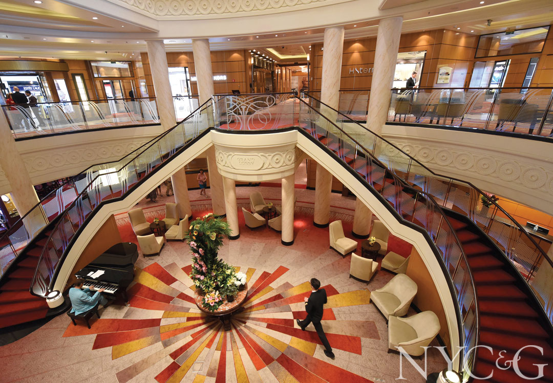 The double staircase in the Grand Lobby.