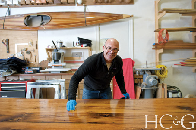 Known for his custom cabinetry, Dereyk Patterson also makes furniture, libraries, and wine cellars in his East Hampton studio.