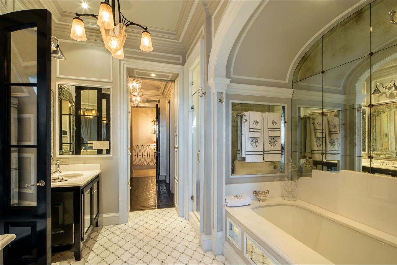 The master bathroom is a luxurious retreat.