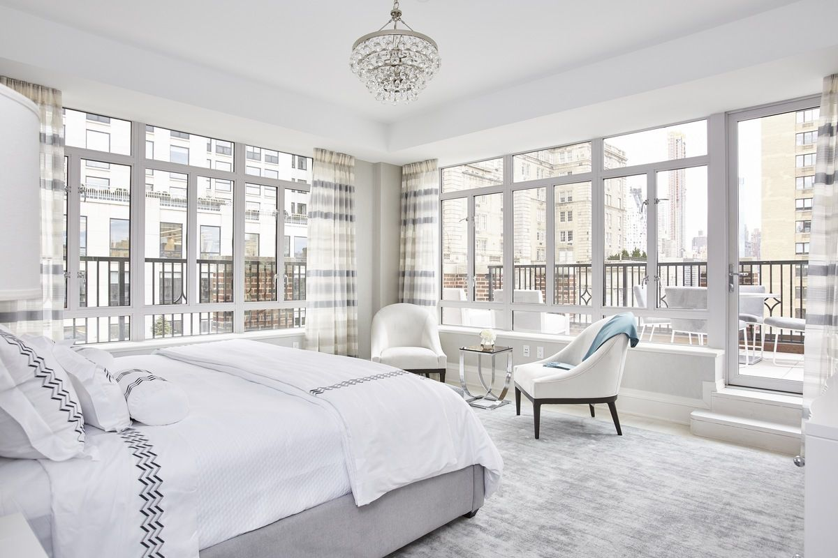 The master bedroom has a private terrace overlooking Central Park.