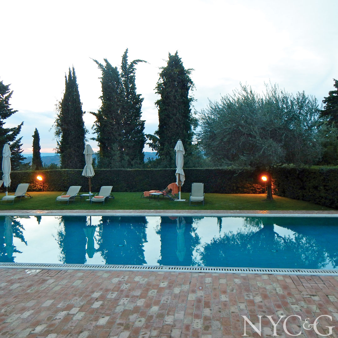 The pool at the Borgo San Felice luxury hotel.