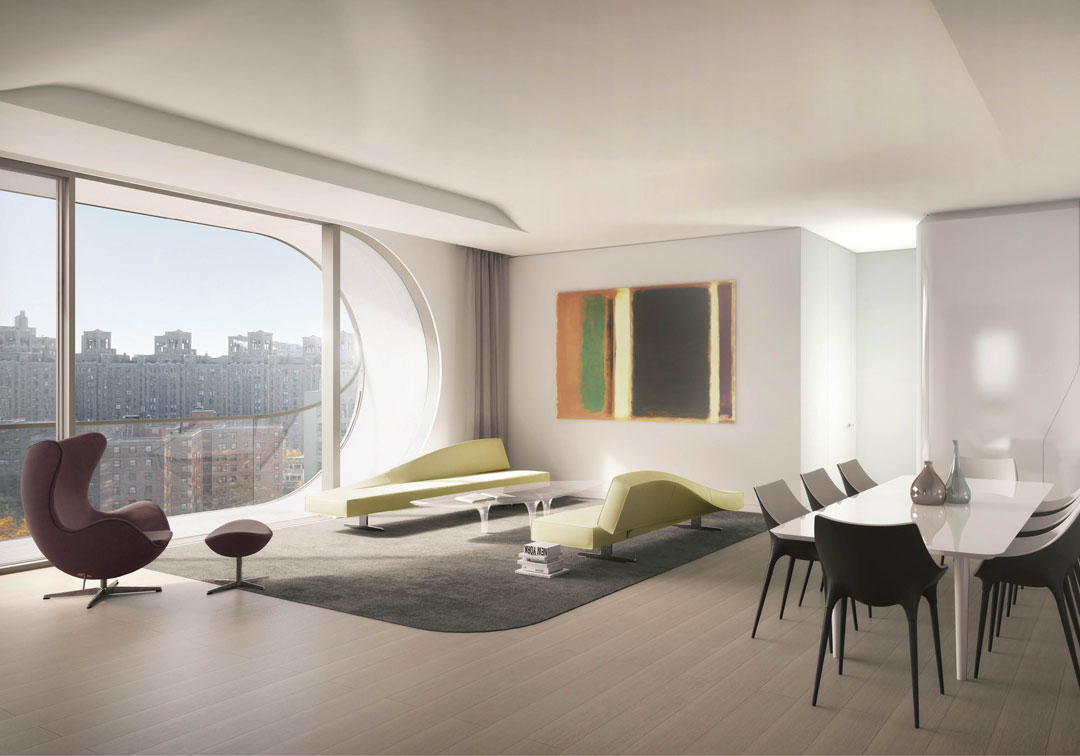 Peek Inside The Zaha Hadid Designed Residences At 520 West 28th Street Cottages Gardens