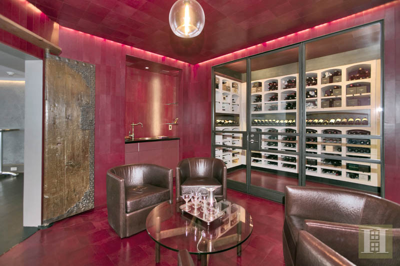 The wine cellar includes a tasting room.