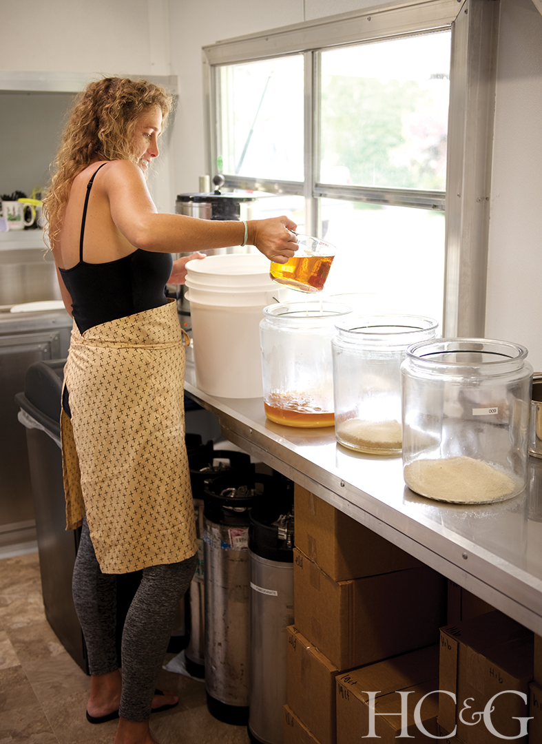 The Nolan sisters brew, mix, and ferment the kombucha–which is made using black, green, and oolong teas–inside a trailer specifically designed for food preparation.