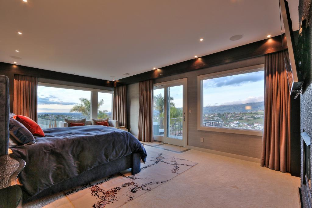 There is a gorgeous view from the master bedroom.