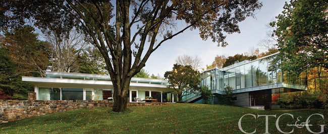 Harvard Five architect Marcel Breuer designed this New Canaan home in 1951. Thoroughly restored, it lists for $5.85 million with Sherri C. Kielland of Houlihan Lawrence in New Canaan. 203-977-3566.