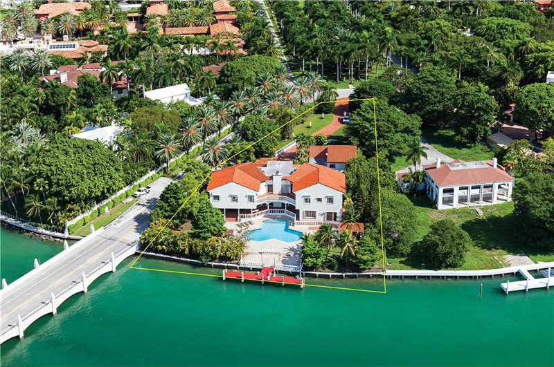 The Beckhams sent property reps to check out this estate on Florida's posh Star Island.