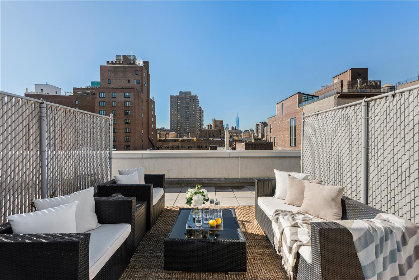 There is 330 square feet of private terrace space,