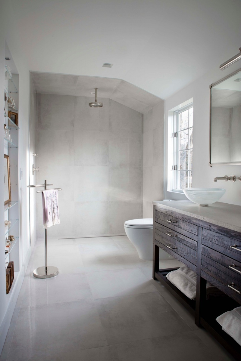 Image of: Create A Sleek Modern Design With These 9 Industrial Bathroom Accessories Cottages Gardens