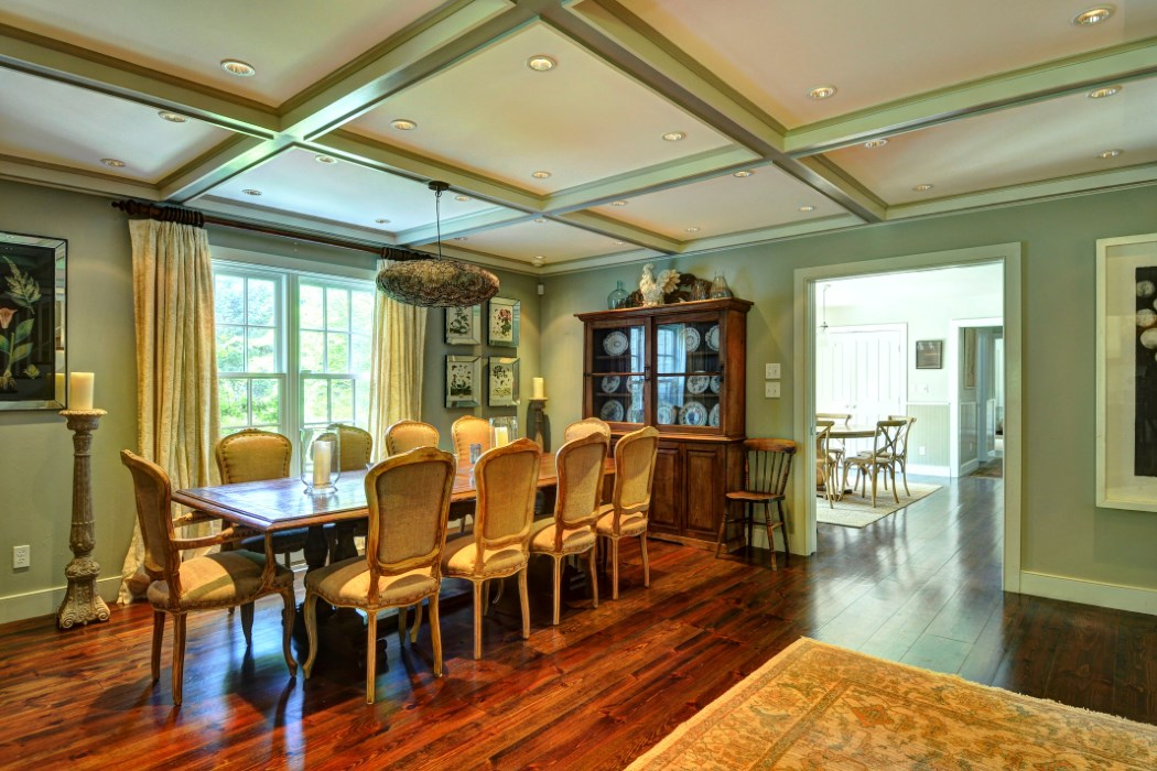 There is plenty of room for entertaining in the dining room.