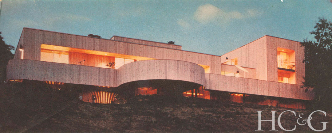 A 1970 home in Southampton's Shinnecock Hills is one of Harry Bates's early Hamptons projects.