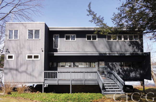 Marcel Breuer hom on Lakeville Lake for sale through William Pitt Sotheby's