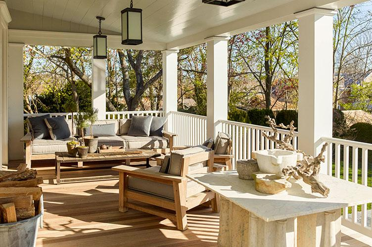 The front porch is a relaxing retreat.