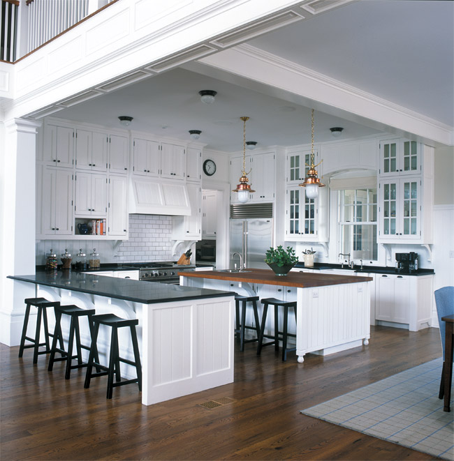 Open Kitchen with Butcher-Block Island