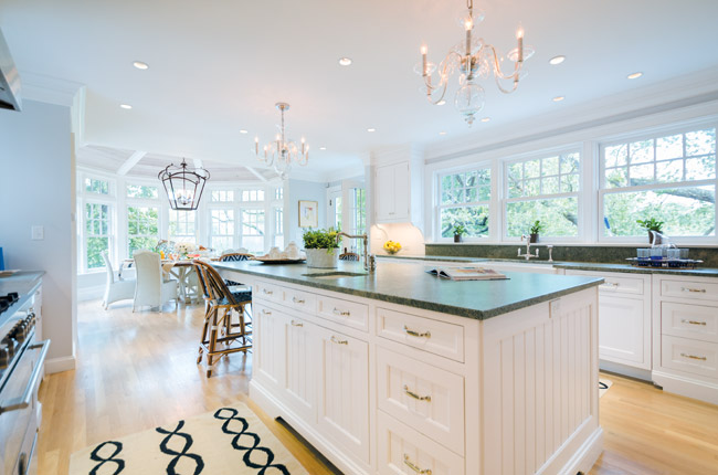 Open Kitchen with Traditional Cabinets