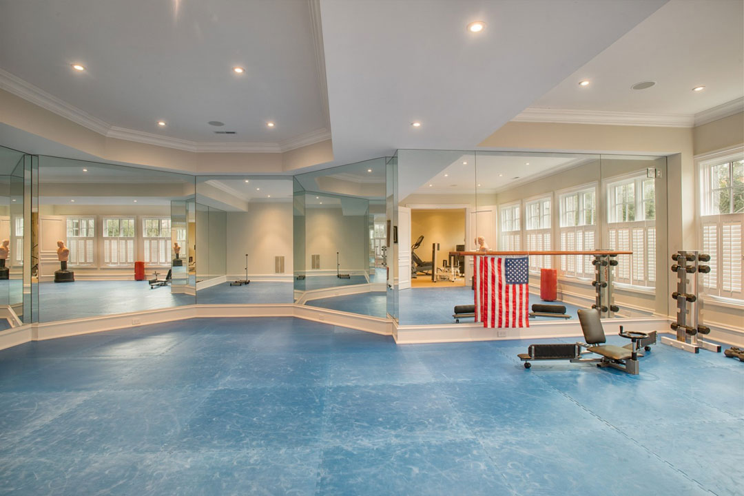 The home includes a gym.