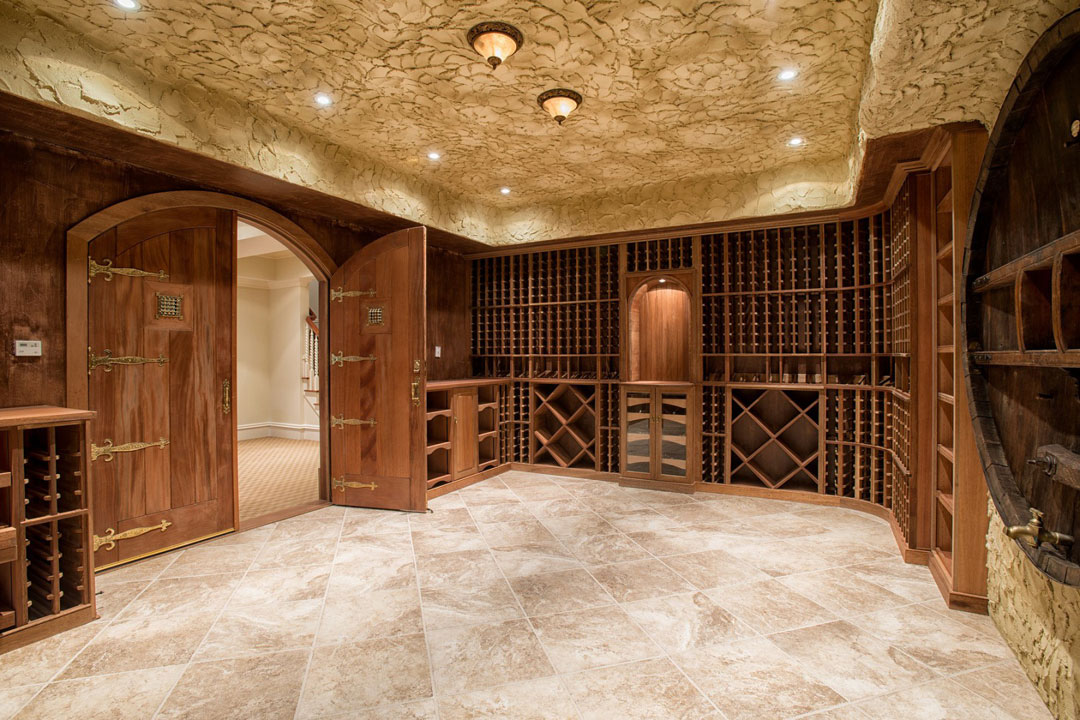 The home includes a wine cellar.