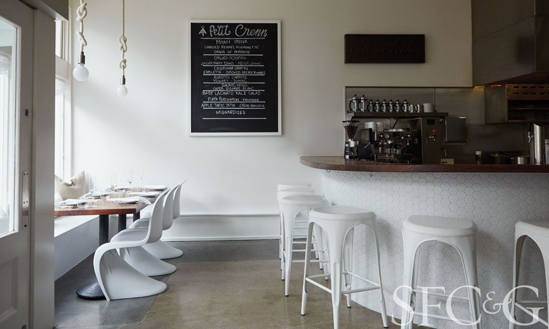 Chef Dominique Crenn's new restaurant, Petit Crenn, reflects the warmth and spirit of Brittany, her childhood home.