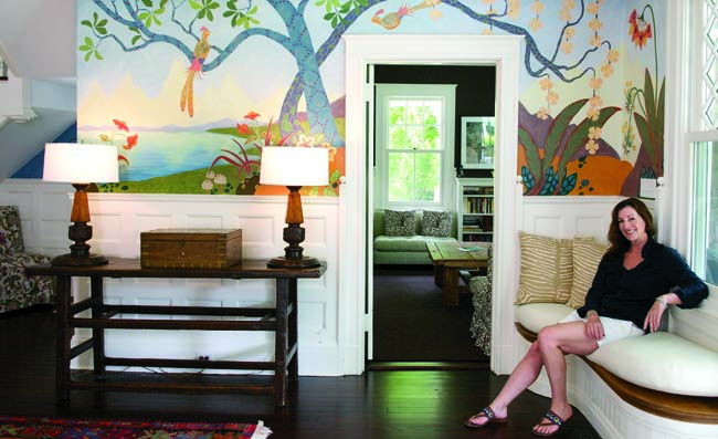 Barbara Thomas paints murals and façades of clients' homes.